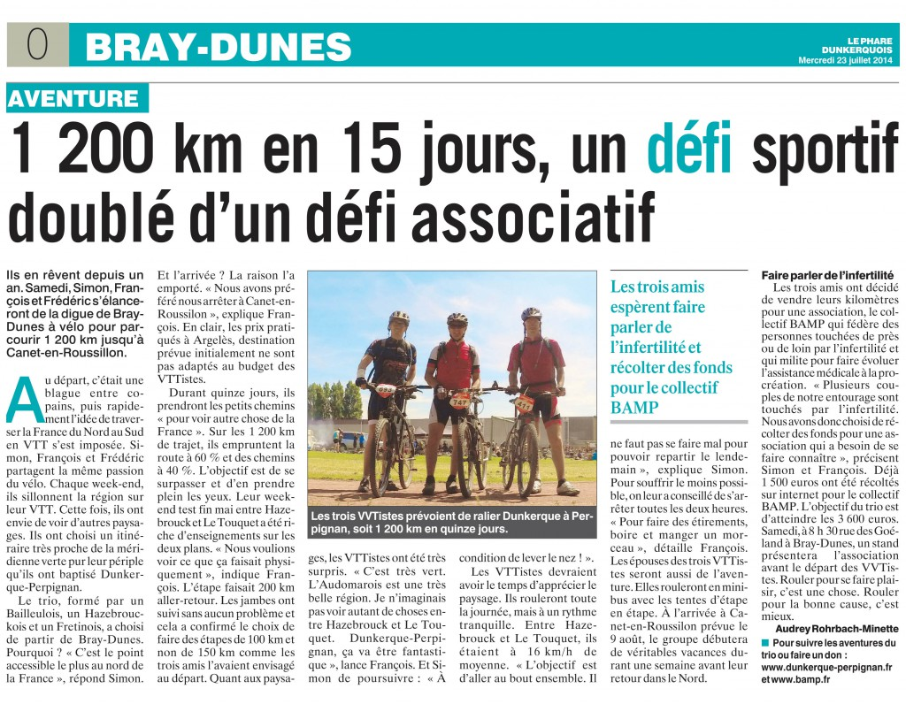 Article le phare dunkerquois
